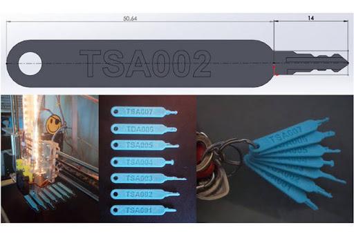Copian por impresión 3D las llaves maestras de los aeropuertos estadounidenses